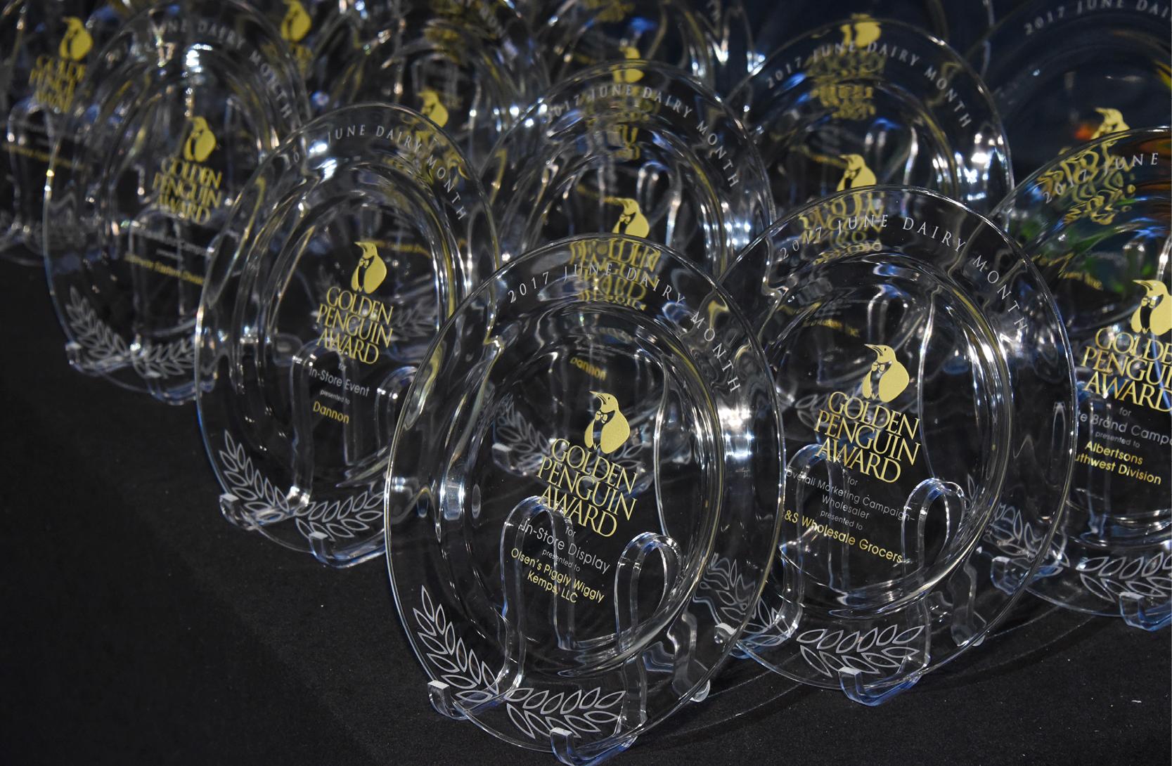 Golden Penguin Awards on table