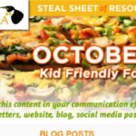 Screenshot of October Steal Sheet E-newsletter
