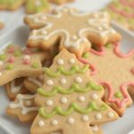 holiday sugar cookies decorated with icing