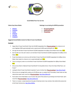 Screenshot of social posts document