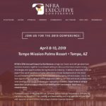 Screenshot of the NFRA Executive Conference homepage