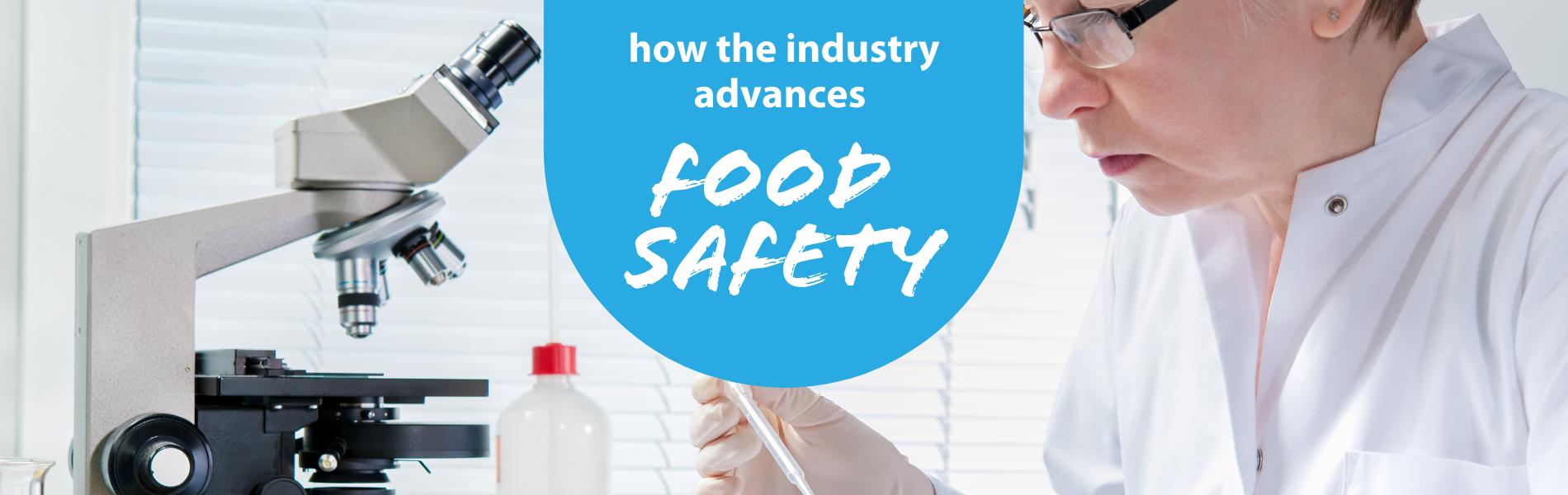 Food scientist lookin at a sample